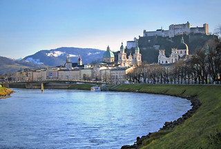 Salzburg - a sunny day in early winter