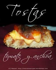 Tostas de tomate anchoa