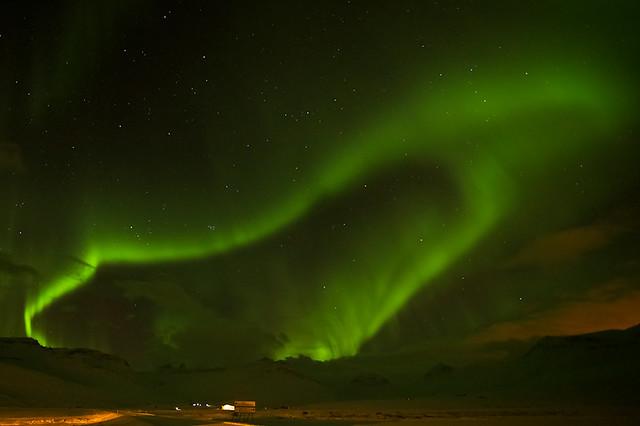 Last night aurora borealis