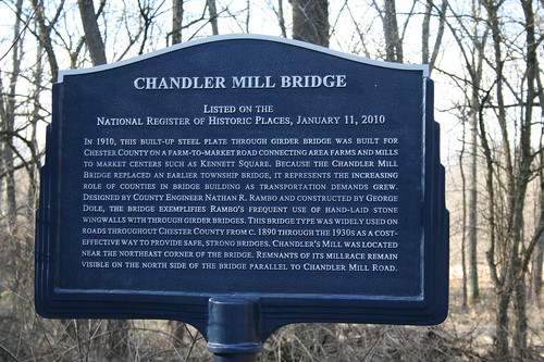 Chandler Mill Bridge historic marker