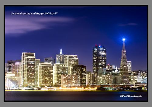 Embarcadero Center Christmas Lights San Francisco 2011 by davidyuweb