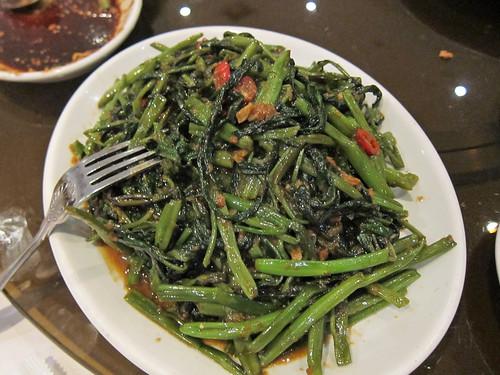 Fried Kangkong with Belachan