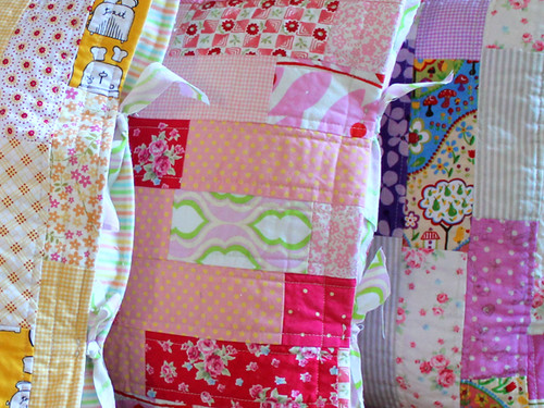 quilted pillows closeup