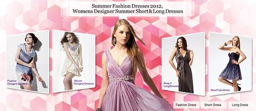 Summer Fashion Dresses 2012, Womens Designer Summer Short & Long Dresses by GlobalMarket