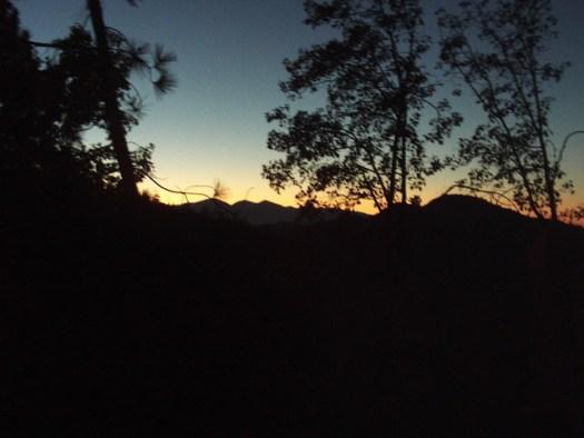 Sunset In The San Bernardino Mountains