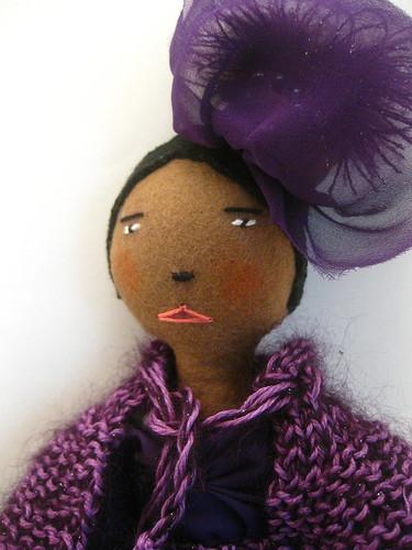 Madame Violette, blushing