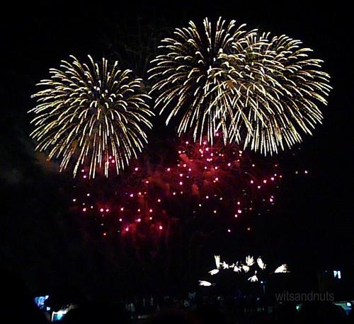 Fireworks display during Coldplay concert in Abu Dhabi