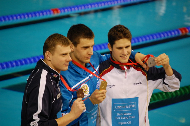 Rijeka 2008 Men's 50 Back Medal Winners