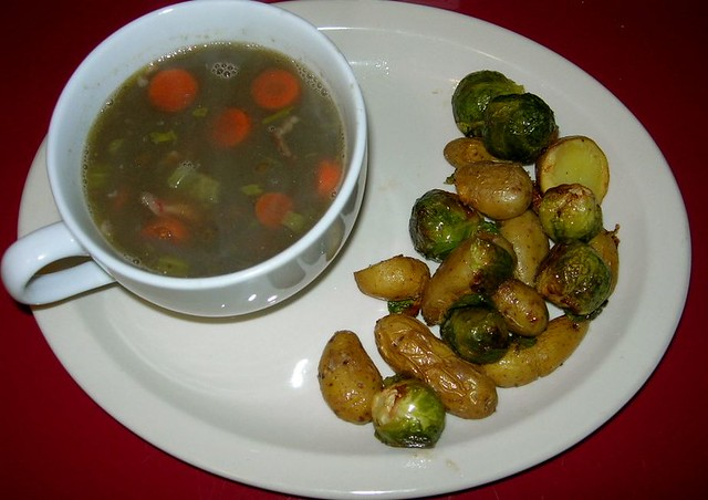 Lentil Soup with Roasted Veggies