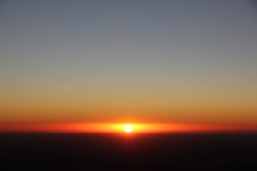 First sunrise of 2012 from Guadalupe Peak