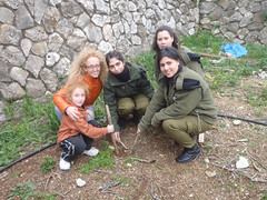 IDF Officers and Soldiers Celebrate Tu Bishvat 2012