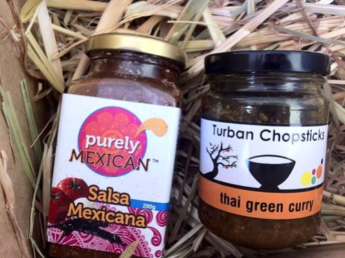 Urban Locavore - mexican salsa & thai green curry