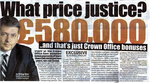 What Price Justice Sunday Mail 18 December 2011