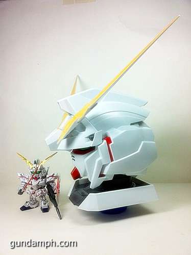 Banpresto Gundam Unicorn Head Display  Unboxing  Review (55)