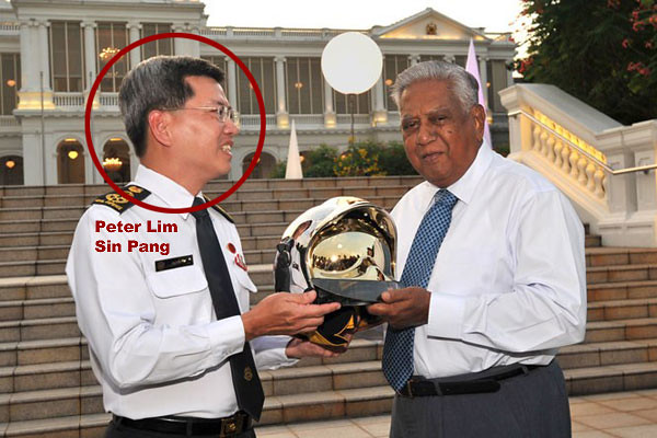 Peter Lim Sin Pang rubbing shoulder with Singapore's favourite president
