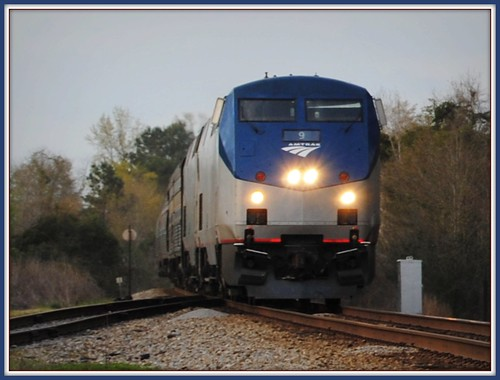 Southbound Amtrak Crescent by Loco Steve