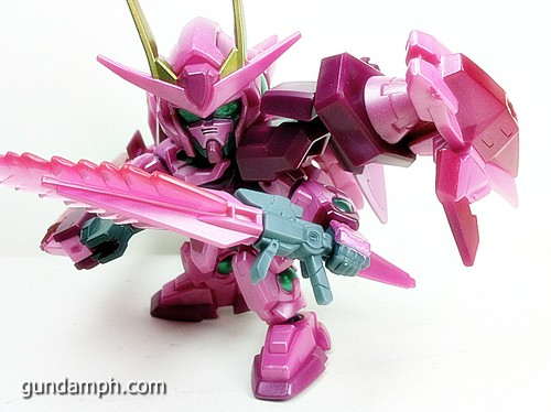 SD Gundam Online Capsule Fighter Trans Am 00 Raiser Rare Color Version Toy Figure Unboxing Review (64)