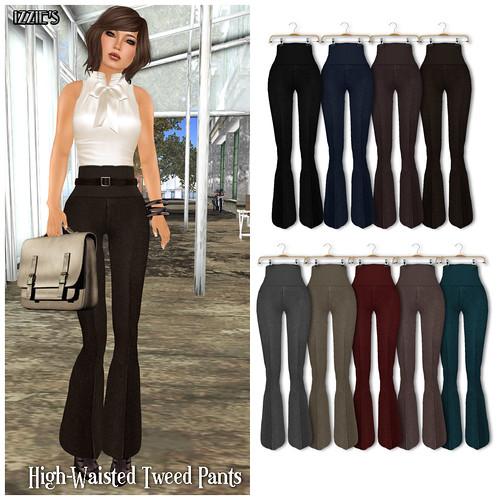 High Waisted Tweed Pants