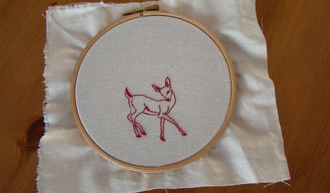 fawn emboidery for Marce