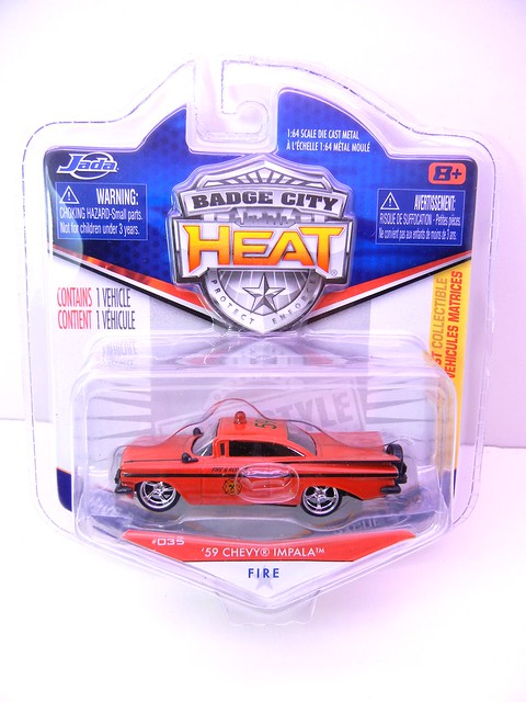 jada toys badge city heat '59 chevy impala fire department (1)