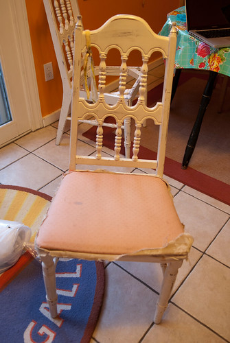 Reupholstering chairs