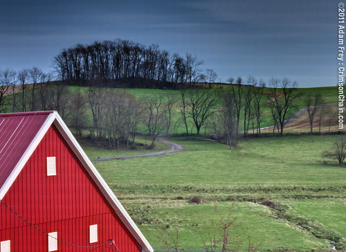 Barn and field (enfused)