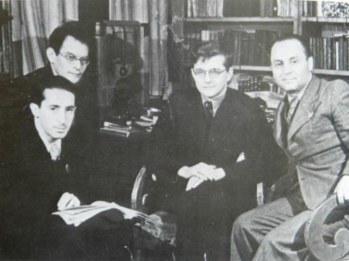 Kozintsev, Moskvin, Shostakovitch y Trauberg
