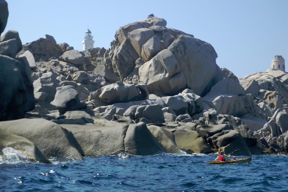 Capo Testa - I Graniti Occidentali - il Faro Nuovo e il Vecchio Faro