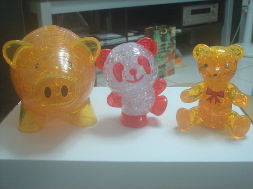 3D水晶立體積木拼圖_豬存錢筒+熊貓+小熊2
