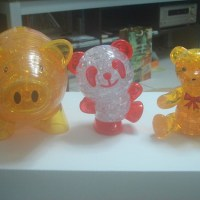 3D水晶立體積木拼圖(3D Crystal Puzzle)_小豬存錢筒+熊貓+小熊+蘋果