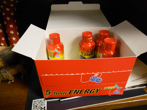 A whole box of 5 hour energy!