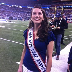 Miss Deaf America at the Super Bowl by Nancy Dunne
