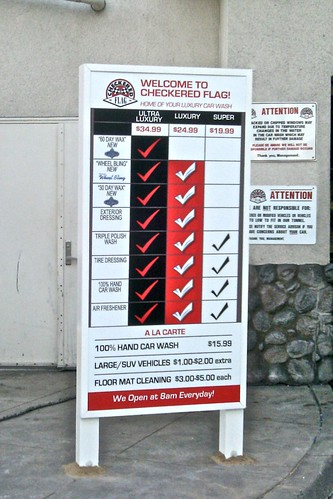 Car Wash Point of Purchase sign by MrBigCity
