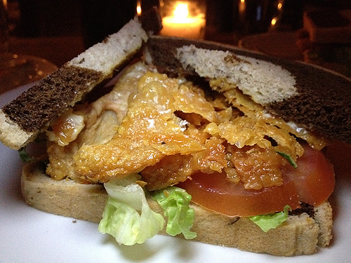 Gribenes (CHICKEN SKIN) Sandwich