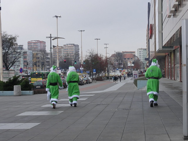 These Santas sure come from Greenland