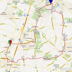 09. Bike Route Map. Cranbury NJ