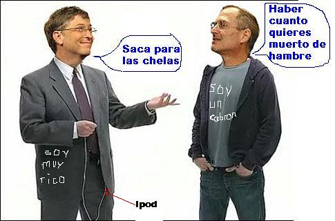 Steve Jobs vs Bill Gates compadres