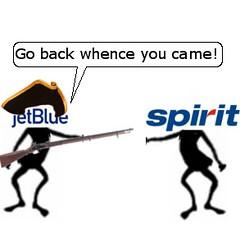 JetBlue Fights Spirit in Boston