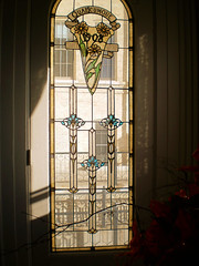 Stained Glass Window in the dining room