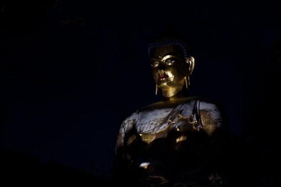 The Big Buddha in Snow