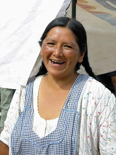 Woman in the market - Mujer en el mercado; Comarapa, Departamento de Santa Cruz, Bolivia