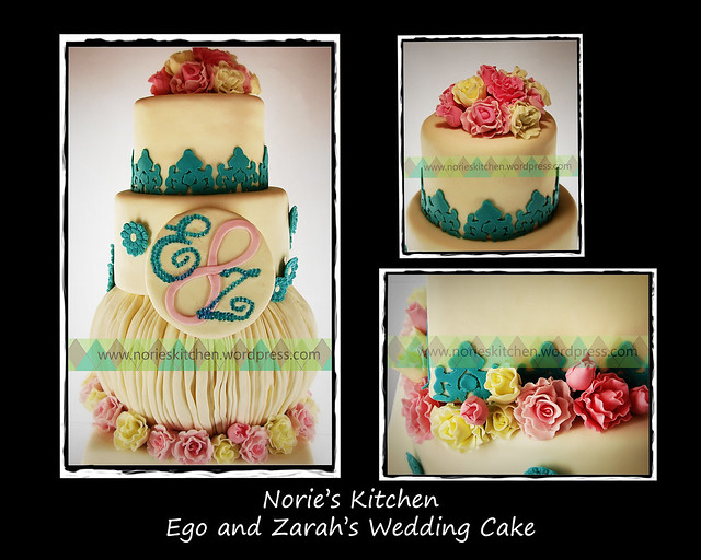Norie's Kitchen - Ego and Zarah's Wedding Cake - Detail Shots