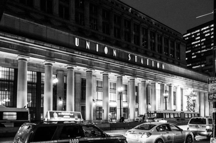 Chicago Union Station at night