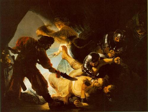 Rembrandt L'accecamento di Sansone
