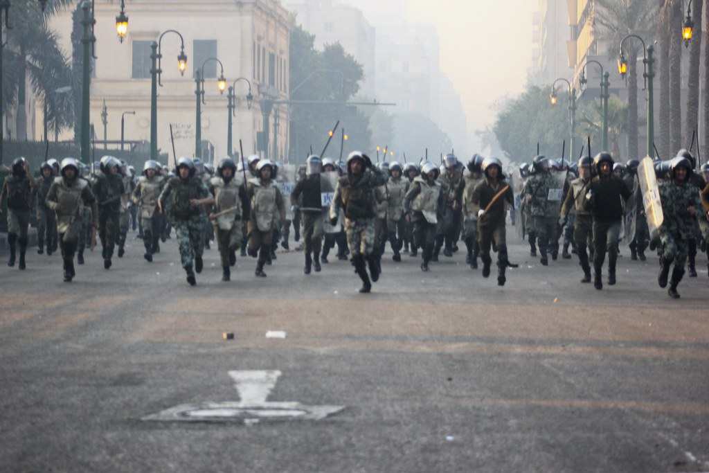 Army Raids in Tahrir