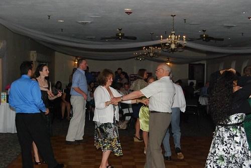 Michelle and Grandpa dancing