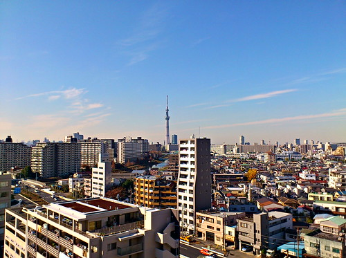 Tokyo View with Sky Tree in HDR