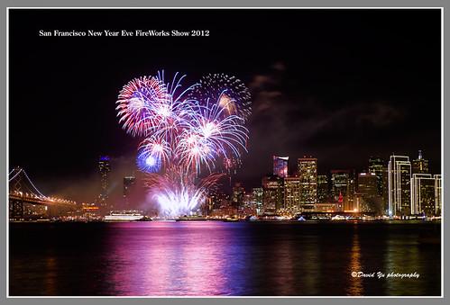 San Francisco New Year Eve FireWorks Show 2012 by davidyuweb
