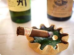 Dried Hacked Cigar + Ashtray