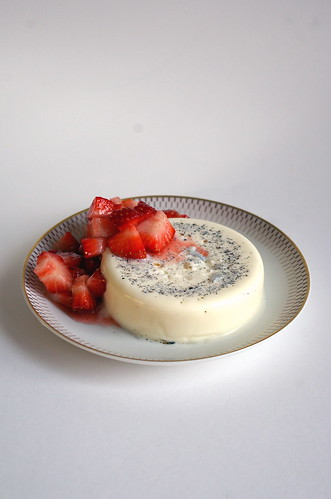 Panna cotta with strawberries II